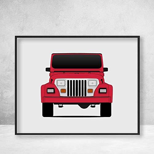 Jeep Wrangler YJ Renegade (1987-1995) Poster Print Wall Art Decor Handmade