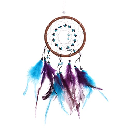 CHICTRY Traditional Dream Catcher Wall Hanging Decoration Handmade Delicate 1 Circle Dream Catcher Net Car Hanging Home Decoration Ornament Gift Colorful One Size by CHICTRY (Image #2)