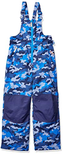 Amazon Essentials Boys' Big Water-Resistant Snow Bib, Blue Camo, Medium (Pants Kids Bib Snow)