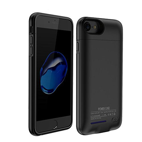 BIGFOX for iPhone 7 Plus Battery Case,for iPhone 8 Plus/7 Plus Charger Case 4200mAh Magnetic Battery Cases Slim Rechargeable External Battery Pack for iPhone 8 Plus/7 Plus/6S Plus/6 Plus (Black)