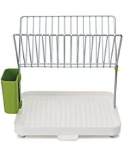Joseph Joseph Y-rack Dish Rack and Drainboard Set with Cutlery Organizer Drainer Drying Tray Large for Kitchen, White, (85083)