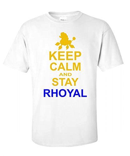Sigma Gamma Rho Keep Calm and Stay Royal White T-Shirt w/Royal Blue and Gold Lettering Large