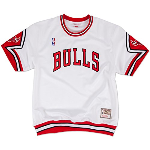 Chicago Bulls Authentic Shooting Shirt - Traditional -White (L)
