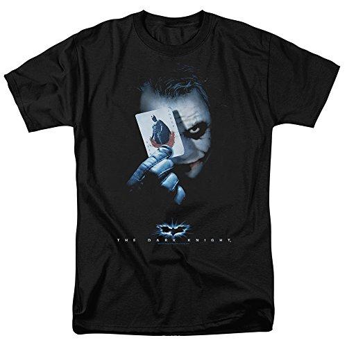 Popfunk The Dark Knight Heath Ledger Joker with Card T Shirts & Exclusive Stickers (Small) Black ()