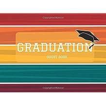 Graduation Guest Book: Colorful Stripes Message Book, Keepsake, Scrapbook, Memory Year Book | High School, College...