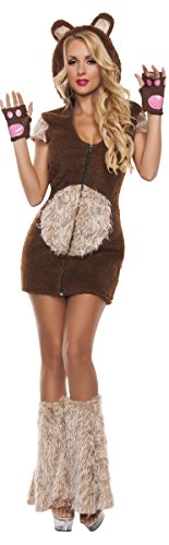 Starline Women's Cuddle Me Bear 3 Piece Costume Set, Brown, Large -
