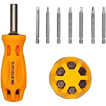 Tournevis Et Multi Bit Tool Set avec 19 Interchangeable Tips-Tête magnétique