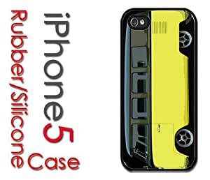 iPhone 5C (New Color Model) Rubber Silicone Case - Slammed Yellow VW Bus Volkswagen lowered bus yellow black