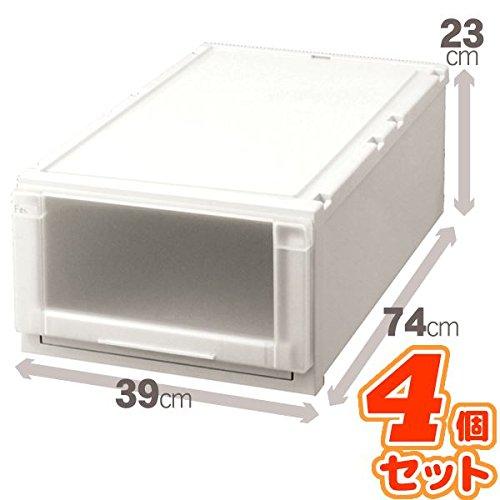 (4個セット) 収納ボックス/衣装ケース 『Fits フィッツユニットケース』 幅39cm×高さ23cm(L) 日本製 生活用品 インテリア 雑貨 日用雑貨 収納用品 14067381 [並行輸入品] B07GTXZXXX
