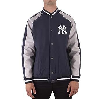 Majestic Chaqueta Mlb New York Yankees Letterman azul/gris ...