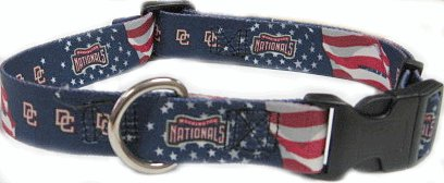 Hunter MFG Washington Nationals adjustable nylon Dog Collar - Large