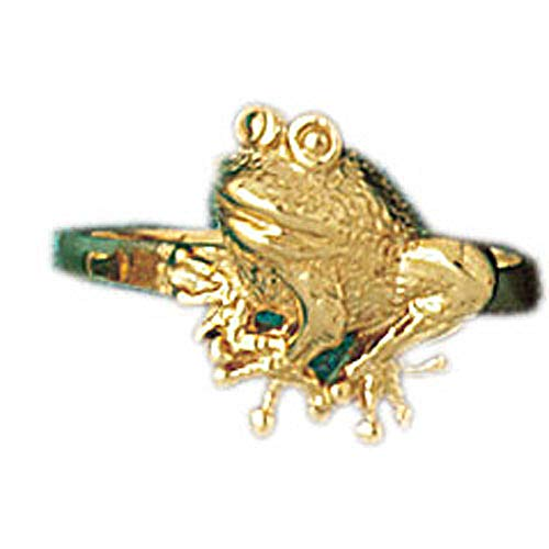 14K Yellow Gold Frog Ring