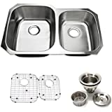 32 inch Undermount 60/40 Double Bowl 16 gauge Stainless Steel Kitchen Sink Proofing By Supersuper