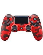 Controle joystick PS4 sem fio primeira linha - bluetooth, função de vibração dupla, conector de áudio para PS4 - Várias cores (Camuflado vermelho)