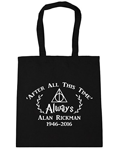 Alan After Rickman Black 1946 Gym Memorial 2016 Always Bag Shopping litres Time' x38cm This Tote HippoWarehouse 10 42cm All Beach dxXCwqYY