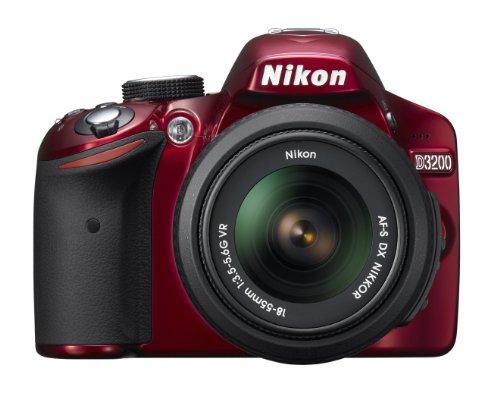 Nikon D3200 24.2 MP CMOS Digital SLR with 18-55mm f/3.5-5.6 AF-S DX VR NIKKOR Zoom Lens (Red) (Nikon D3300 Sample Images With 18 55)