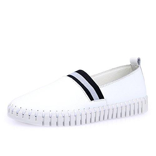 Le Fu zapatos de las mujeres/escoge los zapatos/los zapatos ocasionales planos coreanos/ligeros y suaves único zapatos cómodos/guisantes zapatos de conducción B