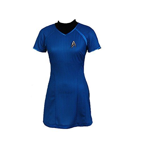 Halloween Deguisement Shirt Pilote Jupe Hotesse Femme et Role T Costume Deguisement Casual Jupe Film Bleu Costume ddwfnxqYHr