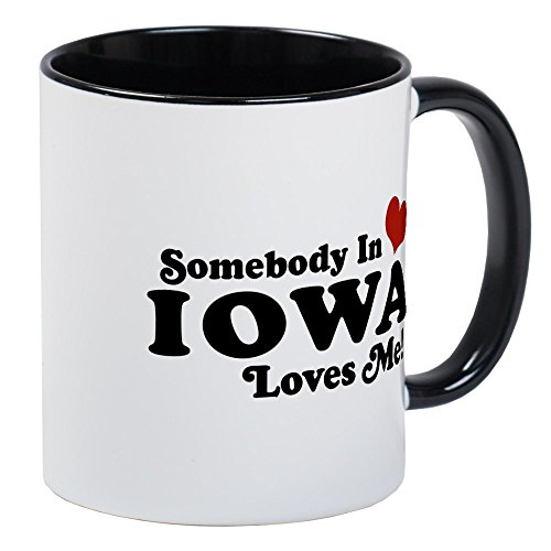 CafePress Somebody In Iowa Loves Me Mug Unique Coffee Mug, Coffee Cup
