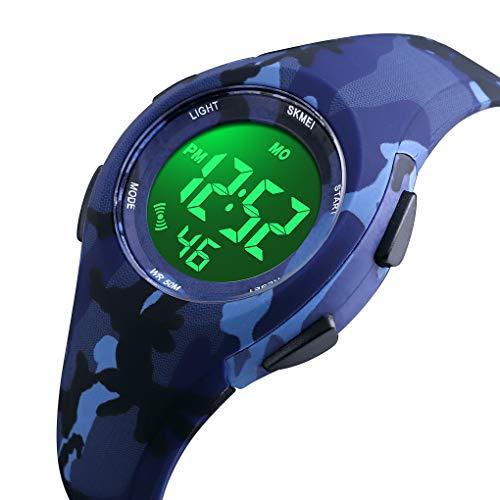 Kid Watch Sport LED Alarm Stopwatch Digital Child Quartz Wristwatch for Boy ()