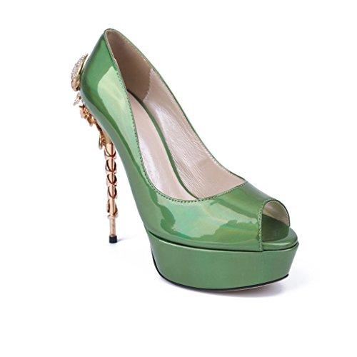 Semelle femme Vert Minitoo vert compensée faqdWYPwx