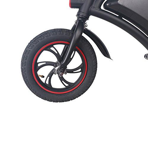 BEBK Bicicleta Eléctrica Plegable Inalámbrico Inteligente Plegable De 12 Pulgadas/E-Bike/Scooter 350W 36V E Bike Con Rango De 12 Millas, Ajuste De Velocidad ...