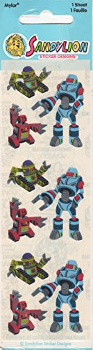 Robots Foil Scrapbook Stickers ()