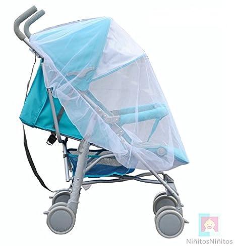 Baby XL universal de protección contra insectos para carrito y bebé Cuna con goma elástica, mosquitera, mosquitera, extra grande, color blanco: Amazon.es: ...