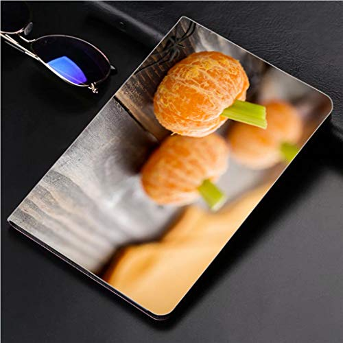 Compatible with 3D Printed iPad Pro 10.5 Case Healthy Halloween Food Tangerine Pumpkins Snack Kids 360 Degree Swivel Mount Cover for Automatic Sleep Wake up ipad case -