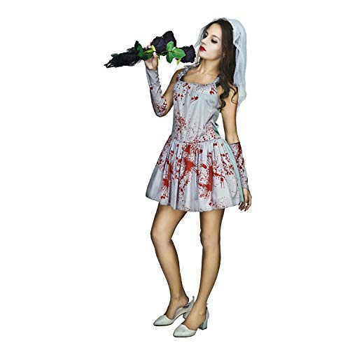 flatwhite Sexy Bloody Bride Halloween Costume -