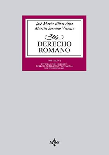 Descargar Libro Derecho Romano. Introducción Histórica. Derecho De Personas Y De Familia. Derecho Procesal - Volumen I José María Ribas Alba