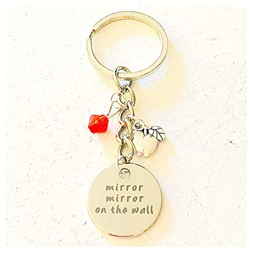 Mirror Mirror on the Wall Snow White-Inspired Charm Keychain Accessories Gift for a Caring Princess or Evil Queen ()