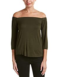 Bailey44 Womens Off-The-Shoulder Top, Green
