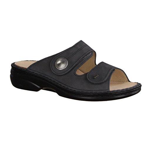 Finn Comfort Sansibar - Zapatos mujer Zapato abierto / Chanclas de dedo, Gris, bearnubuk ( cuero )