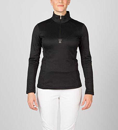 Savona neck Negro Stretch Térmica Spyder Para 6 Talla Therma Camiseta T Color Mujer dIUx1wA