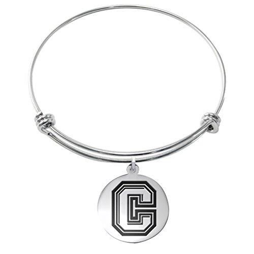 colgate-raiders-stainless-steel-adjustable-bangle-bracelet-with-round-charm