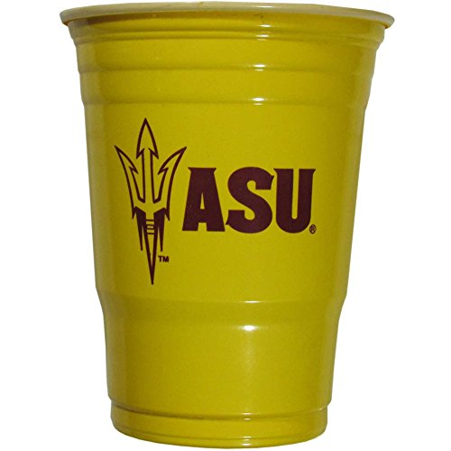 Siskiyou NCAA Arizona State Sun Devils Plastic Game Day Cups 2 Sleeves of 18 (36 Cups)