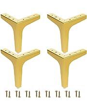 """6""""/15cm gouden meubels benen, 4 moderne metalen driehoek meubels voeten DIY vervanging voor kast bank bank stoel Ottomaanse"""