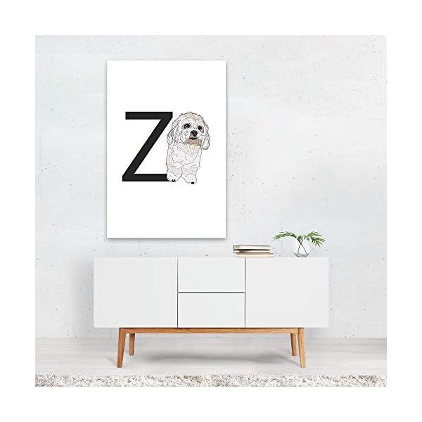 "Noir Gallery Dog Zuchon Illustration 11"" x 14"" Unframed Art Print/Poster 3"
