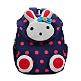 Tivolii Children Cartoon Rabbit Canvas Backpack Kindergarten School Bag Waterproof Kids Baby Toddler Shoulder Bag