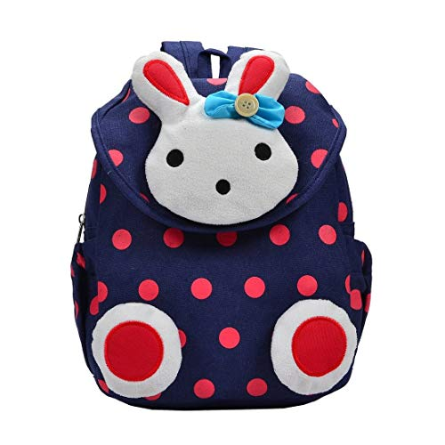 Tivolii Children Cartoon Rabbit Canvas Backpack Kindergarten School Bag Waterproof Kids Baby Toddler Shoulder Bag by Tivolii