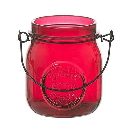 YANKEE CANDLE - Tarro de Velas de té/Frasco de Mermelada portavelas, de Color Naranja. 1521350