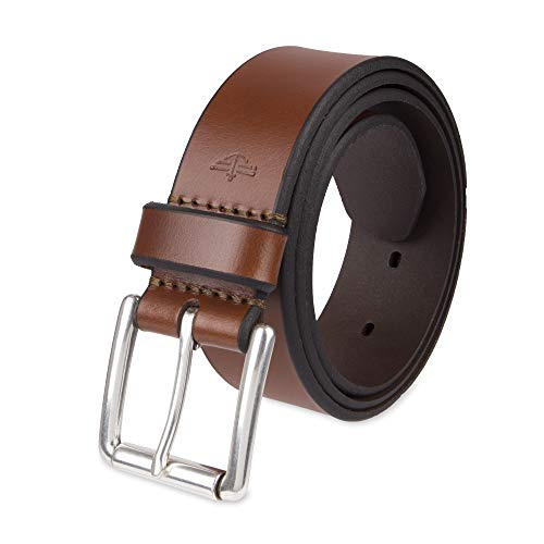 - Dockers Men's Casual Leather Belt - 100% Soft Top Grain Genuine Leather Strap with Classic Prong Buckle, Tan,38