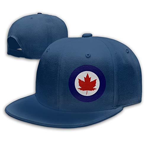 Roundel of The Royal Canadian Air Force Baseball Cap Snapback Hip Hop Hat for Men & Women Navy ()