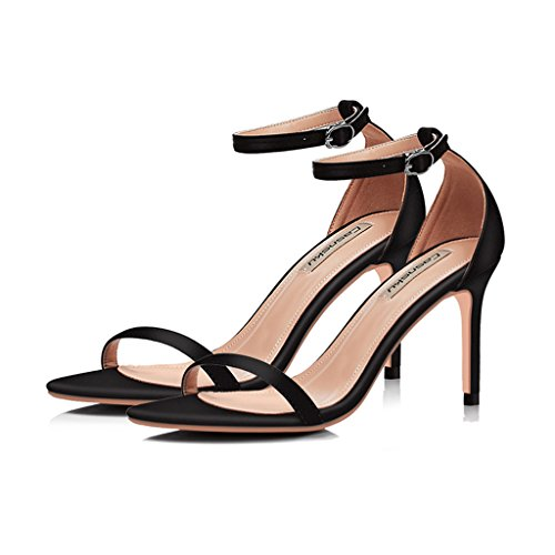 8 Pink 5cm fashion sexy Color heels summer Size black new fine 37 sandals shoes buckle r4WnqBSPr