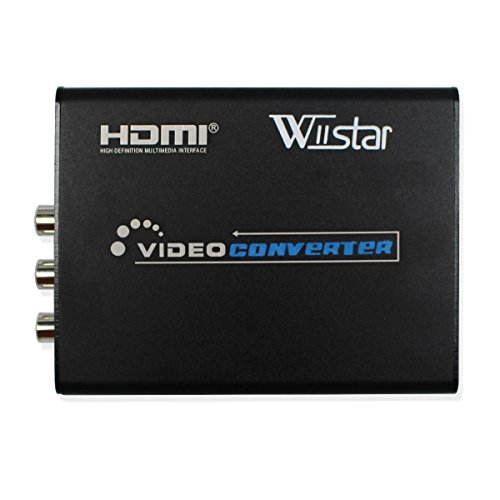 Wiistar HDMI to AV RCA Composite & S-Video Video R/L Audio Converter Mini Video Converter Support 720P/1080P for DVD PS2 PS3 Xbox HDTV