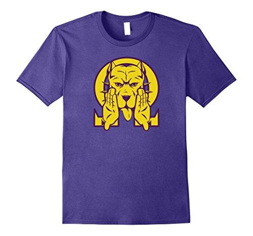 Mens Omega Bulldog Purple Gold Que Atomic Dog Psi Phi T-Shirt 2 Large (Omega Psi Phi Clothing)