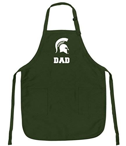 Broad Bay Deluxe Michigan State Dad Apron For Barbecue, Grilling, Kitchen by Broad Bay