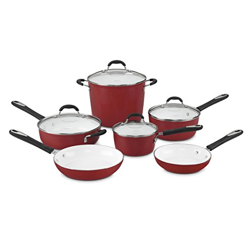 Cuisinart 59-10R Elements 10-Piece Cookware Set, Red by Cuisinart
