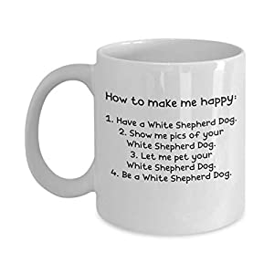 White Shepherd Dog Gifts - Gift Mug - White 11oz 15oz Ceramic Tea Coffee Cup - Perfect For Travel And Gifts 28